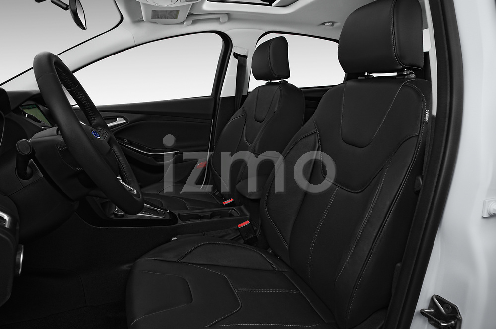 Front seat view of 2015 Ford Focus Titanium 4 Door Sedan Front Seat  car photos