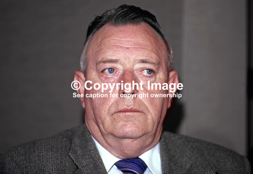 John Davey, prominent member, Provisional Sinn Fein, N Ireland, 19870601JD..Copyright Image from Victor Patterson, 54 Dorchester Park, Belfast, UK, BT9 6RJ..Tel: +44 28 9066 1296.Mob: +44 7802 353836.Voicemail +44 20 8816 7153.Skype: victorpattersonbelfast.Email: victorpatterson@me.com.Email: victorpatterson@ireland.com (back-up)..IMPORTANT: If you wish to use this image or any other of my images please go to www.victorpatterson.com and click on the Terms & Conditions. Then contact me by email or phone with the reference number(s) of the image(s) concerned.
