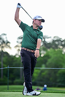 Brian Harman (USA) watches his tee shot on 3 during round 1 of the Shell Houston Open, Golf Club of Houston, Houston, Texas, USA. 3/30/2017.<br /> Picture: Golffile | Ken Murray<br /> <br /> <br /> All photo usage must carry mandatory copyright credit (&copy; Golffile | Ken Murray)