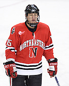 Ray Ortiz (Northeastern - 15) - The Boston College Eagles defeated the visiting Northeastern University Huskies 7-1 on Friday, March 9, 2007, to win their Hockey East quarterfinals matchup in two games at Conte Forum in Chestnut Hill, Massachusetts.
