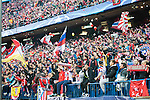 Atletico de Madrid's supporters during Champions League 2015/2016 Quarter-Finals 2nd leg match. April 13, 2016. (ALTERPHOTOS/BorjaB.Hojas)