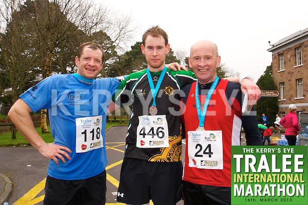 John Flynn 118, Daniel Buckley 446, Ger Buckley 24, who took part in the Kerry's Eye Tralee International Marathon on Sunday 16th March 2014.