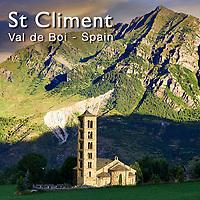 Photos of the Church of Sant Clement de Taull, Vall de Boi, Alta Ribagorca, Spain.
