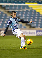 Michael Harriman of Wycombe Wanderers during the Checkatrade Trophy round two Southern Section match between Millwall and Wycombe Wanderers at The Den, London, England on the 7th December 2016. Photo by Liam McAvoy.