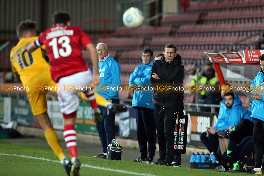 O's Justin Edinburgh during Wrexham vs Leyton Orient, Buildbase FA Trophy Football at the Racecourse Ground on 12th January 2019