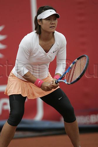 18.05.2010 Warsaw Poland:  Polsat Warsaw, Polish Open Ladies Clay Court tennis championships.  Na left CHN