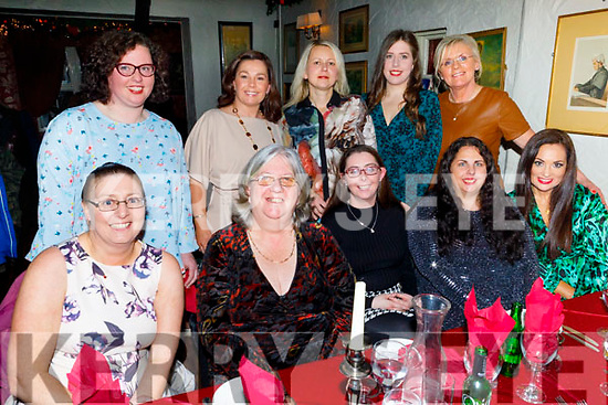 The staff of Stepping Stones Creshe enjoying their Christmas party in Cassidys on Saturday evening. Seated l to r: Cathy Duncan, Bernie Stepley, Sinead O'Sullivan, Liz Clifford and Grainne O'Rourke.<br /> Back l to r: Mary O'Grady Harrington, Linda Duggan, Barbara Mol, Ciara Stepney and Mary Maunsell.