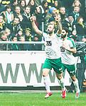 Solna 2015-03-07 Fotboll Allsvenskan AIK - Hammarby IF :  <br /> Hammarbys Kennedy Bakircioglu firar sitt 1-1 m&aring;l under matchen mellan AIK och Hammarby IF <br /> (Foto: Kenta J&ouml;nsson) Nyckelord:  AIK Gnaget Friends Arena Svenska Cupen Cup Derby Hammarby HIF Bajen jubel gl&auml;dje lycka glad happy