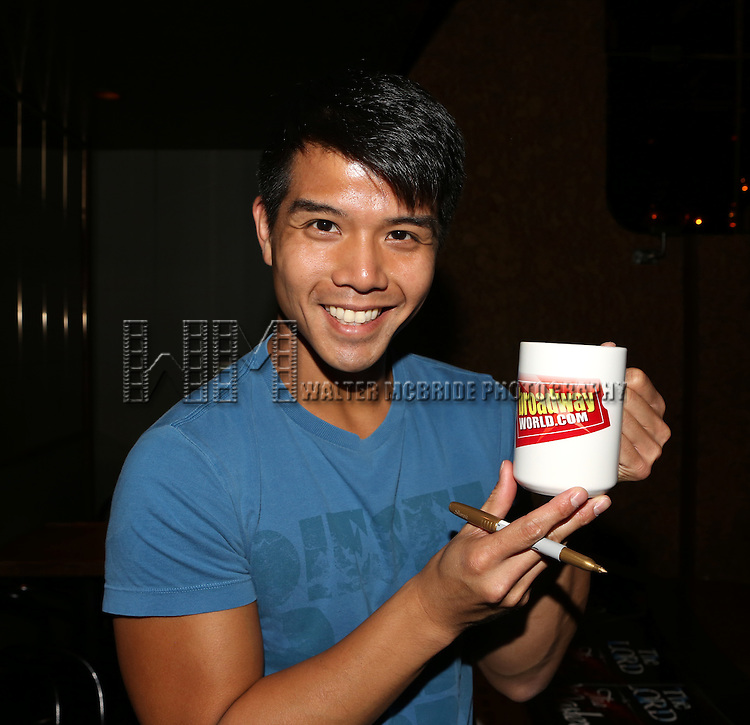 Telly Leong posing for the 'Wake Up with Broadwayworld.com' campaign at Joe's Pub on June 16, 2014 in New York City.