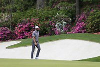Dustin Johnson (USA) on the 13th during the 1st round at the The Masters , Augusta National, Augusta, Georgia, USA. 11/04/2019.<br /> Picture Fran Caffrey / Golffile.ie<br /> <br /> All photo usage must carry mandatory copyright credit (&copy; Golffile | Fran Caffrey)
