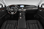 Stock photo of straight dashboard view of 2016 Lexus ES 300h 4 Door Sedan Dashboard
