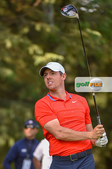 Rory McIlroy (NIR) watches his tee shot on 8 during round 1 of the World Golf Championships, Mexico, Club De Golf Chapultepec, Mexico City, Mexico. 2/21/2019.<br /> Picture: Golffile   Ken Murray<br /> <br /> <br /> All photo usage must carry mandatory copyright credit (© Golffile   Ken Murray)