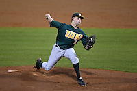 Siena Saints pitcher Bryan Goossens (18) delivers a pitch during the opening game of the season against the UCF Knights on February 13, 2015 at Jay Bergman Field in Orlando, Florida.  UCF defeated Siena 4-1.  (Mike Janes/Four Seam Images)