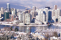 Vancouver, BC, British Columbia, Canada - City Skyline, False Creek, Yaletown Highrise Buildings, Winter