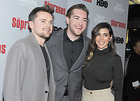 NEW YORK, NEW YORK - JANUARY 09: Robert Iler, Michael Gandolfini and Jamie-Lynn Sigler attends the 'The Sopranos' 20th Anniversary Panel Discussion at SVA Theater on January 09, 2019 in New York City. <br /> CAP/MPI/JP<br /> ©JP/MPI/Capital Pictures