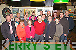 Members from The Knocknagoshal Halloween Group who raised a total of ?12,500 from their annual festival who made presentations to the various charities and community groups last Saturday night in Walsh's Bar. Pictured l-r: Declan Mangan(treasurer), Conor Cusack, Helen Lyons, John Stretton, Geraldine Griffin, Kathy Duncan, John O'Connell, Noreen O'Regan(secretary), Patrick Griffin, Mary McAuliffe, Eddie Barrett(chairperson), Freddie Browne, Connor Hickey, Noel Brosnan(assistant treasurer), Tom Greaney, Richie O'Reegan, Danny Walsh and Mike Moynihan. There was a total of 18 charities and community groups involved which were the Angling Association, Church View Residents Association, An Cnocin Residents Association, Community Centre, Cordal Beagle & Hunt Club, GAA Club, Gaelcholaiste Chiarraí, Gun Club, Gym, Hunt Club, Loughfrouder NS, Neilus O'Connor Music Festival, Rural Social Scheme, Over 55's Group, Parents Association, Red Cross, Spike Players Drama Group, Sister Maureen Ugandan Appeal, Pallative Care Unit Tralee GH and Rehab Care Clash, Tralee.