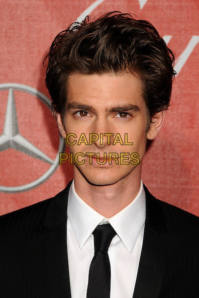 ANDREW GARFIELD .2011 Palm Springs International Film Festival Awards Gala held at the Palm Springs Convention Centre, Hollywood, California, USA, .8th January 2011..portrait headshot  black suit tie white shirt.CAP/ADM/BP.©Byron Purvis/AdMedia/Capital Pictures.