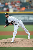 Charlotte Knights starting pitcher Justin Nicolino (30) follows through on his delivery against the Gwinnett Braves at BB&T BallPark on July 12, 2019 in Charlotte, North Carolina. The Stripers defeated the Knights 9-3. (Brian Westerholt/Four Seam Images)