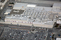aerial photograph of United Air Lines maintenance facility San Francisco International airport SFO