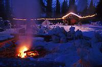 Rohn Checkpoint Cabin @ Night Iditarod 99 AK