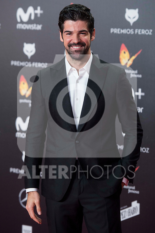 Miguel Angel Munoz attends red carpet of Feroz Awards 2018 at Magarinos Complex in Madrid, Spain. January 22, 2018. (ALTERPHOTOS/Borja B.Hojas)