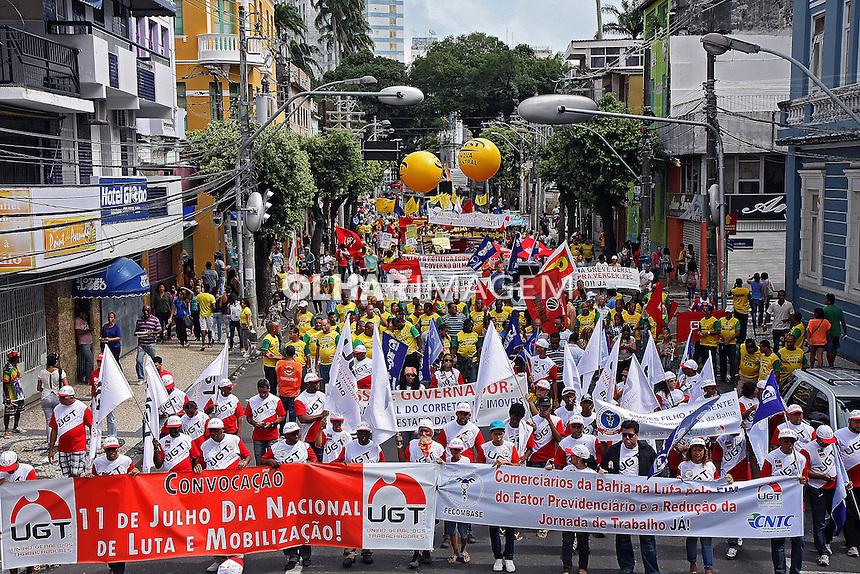 Manifestaçao Dia Nacional de Luta com a participaçao de sindicatos. Salvador. Bahia. 2013. Foto de Euler Paixao.