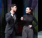 Dry Powder<br /> by Sarah Burgess<br /> Directed by Anna Ledwich at the <br /> Hampstead Theatre, London, Great Britain <br /> 31st January 2018 <br /> Press photocall <br /> Tom Riley as Seth <br /> Hayley Atwell as Jenny<br /> <br /> <br /> Designed by Andrew D Edwards <br /> Lighting by Elliot Griggs<br /> Sound by Max Pappenheim <br /> Video by Ian William Galloway<br /> <br /> Photograph by Elliott Franks