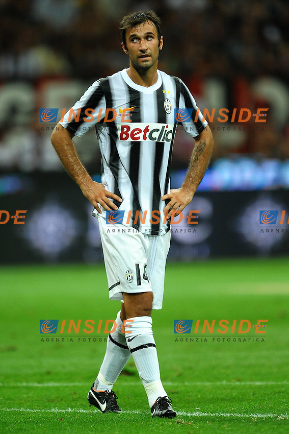 "Mirko VUCINIC Juventus.Milano 21/8/2011 Stadio ""Giuseppe Meazza San Siro"".Trofeo ""Luigi Berlusconi"".Calcio Football - Milan Vs Juventus .Foto Insidefoto Andrea Staccioli"