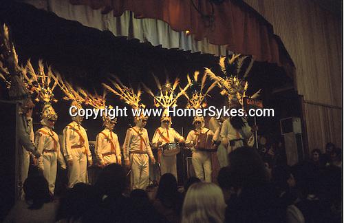 Biddy Boys 1970s. Killorglin  Co Kerry Ireland. February 2nd festival to celebrate the Celtic Saint Bridgid.