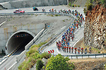 The peloton in action during Stage 3 of the 54th Presidential Tour of Turkey 2018, running 132.7km from Fethiye to Marmaris, Turkey. 11th October 2018.<br /> Picture: Brian Hodes/VeloImages | Cyclefile<br /> <br /> <br /> All photos usage must carry mandatory copyright credit (&copy; Cyclefile | Brian Hodes/VeloImages)