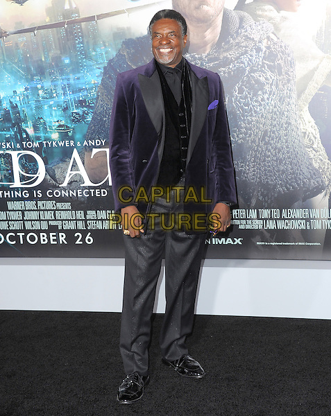 Keith David.The L.A. Premiere of 'Cloud Atlas' held at The Grauman's Chinese Theatre in Hollywood, California, USA..October 24th, 2012 .full length purple velvet grey gray trousers black waistcoat suit jacket .CAP/RKE/DVS.©DVS/RockinExposures/Capital Pictures.