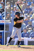 Outfielder Jeff Roy (61) of the Pittsburgh Pirates during a spring training game against the Toronto Blue Jays on February 28, 2014 at Florida Auto Exchange Stadium in Dunedin, Florida.  Toronto defeated Pittsburgh 4-2.  (Mike Janes/Four Seam Images)