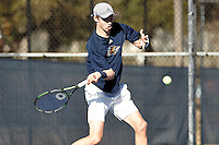 SAN ANTONIO, TX - FEBRUARY 8, 2017: The University of Texas at San Antonio Roadrunners fall to the Texas A&M University-Corpus Christi Islanders 6-1 at the UTSA Tennis Center. (Photo by Jeff Huehn)