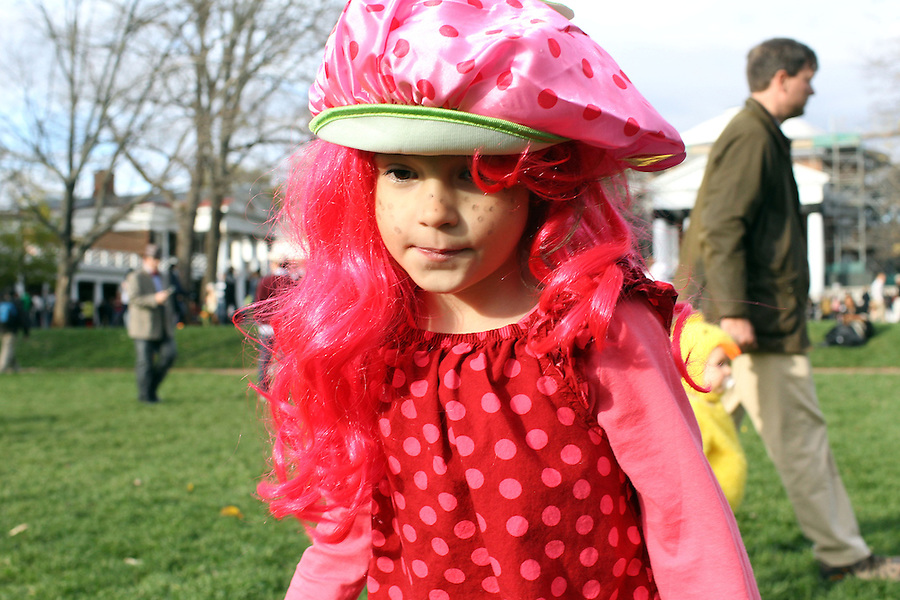 Ava Grey Shurtleff has Halloween on the lawn at the University of Virginia in Charlottesville, VA. Photo/Andrew Shurtleff
