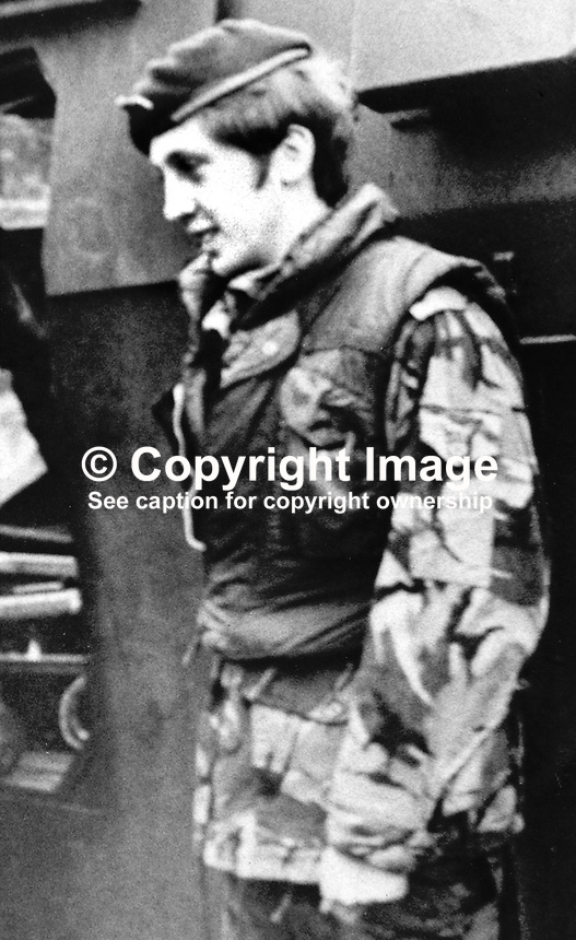 Brian Shaw, who was abducted and shot by the Provisional IRA in Belfast, N Ireland, on 21st July 1974. The IRA claim that he was caught planting a bomb and under interrogation admitted being in the SAS. From Mansfield, Nottinghamshire, England, UK, he had bought himself out of the army and settled in Belfast. He married a local girl and was just completing his honeymoon when he was abducted.  One of Guildford Four, Paul Hill was convicted of his murder but in the 1990's mounted a successful appeal. For more information go to Lost Lives entry 1173. 197407211234.<br /> <br /> Copyright Image from Victor Patterson,<br /> 54 Dorchester Park, Belfast, UK, BT9 6RJ<br /> <br /> t1: +44 28 90661296<br /> t2: +44 28 90022446<br /> m: +44 7802 353836<br /> <br /> e1: victorpatterson@me.com<br /> e2: victorpatterson@gmail.com<br /> <br /> For my Terms and Conditions of Use go to<br /> www.victorpatterson.com