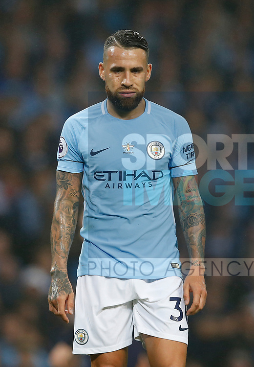 Nicolas Otamendi of Manchester City during the Premier League match at the Eithad Stadium, Manchester. Picture date 21st August 2017. Picture credit should read: Simon Bellis/Sportimage