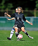 28 August 2009: University of Montreal Carabins' forward Isabelle Dumais in action against the University of Vermont Catamounts during the 2009 TD Bank Women's Soccer Classic at Centennial Field in Burlington, Vermont. The Catamounts defeated the Carabins 3-2 in sudden death overtime. Mandatory Photo Credit: Ed Wolfstein Photo