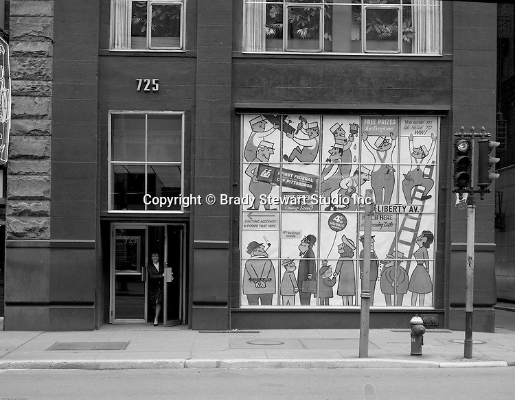 Pittsburgh PA: View of the Gamble Building on Liberty Avenue - 1963.  Brady Stewart Studio occupied the 4th Floor of the Gamble building for 20+ years.
