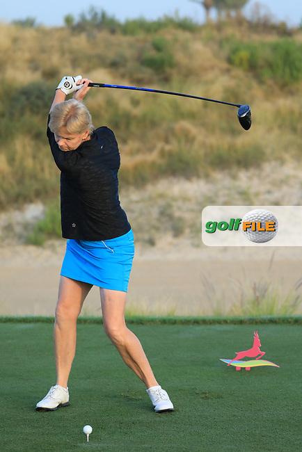 Trish Johnson (ENG) during the first round of the Fatima Bint Mubarak Ladies Open played at Saadiyat Beach Golf Club, Abu Dhabi, UAE. 10/01/2019<br /> Picture: Golffile | Phil Inglis<br /> <br /> All photo usage must carry mandatory copyright credit (&copy; Golffile | Phil Inglis)