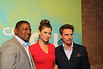 """Mikhi Phifer & Peyton List & Riley Smith all on """"Frequency""""  - The CW Upfront - Red Carpet Arrivals on May 19, 2016 at t he London Hotel, New York City, New York. (Photo by Sue Coflin/Max Photos)"""