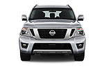 Car photography straight front view of a 2017 Nissan Armada SV 5 Door SUV