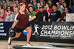 14 APR 2012: T`via Falbo (32) of the University of Maryland Eastern Shore throws during the Division I WomenÄôs Bowling Championship held at Freeway Lanes in Wickliffe, OH.  The University of Maryland Eastern Shore defeated Fairleigh Dickinson 4-2 to win the national title.  Jason Miller/NCAA Photos