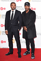 Noel Clarke and Ashley Walters in the winners room for the BAFTA TV Awards 2018 at the Royal Festival Hall, London, UK. <br /> 13 May  2018<br /> Picture: Steve Vas/Featureflash/SilverHub 0208 004 5359 sales@silverhubmedia.com
