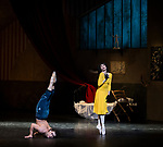 English National Ballet. Le Jeune Homme et la Mort. <br /> Coliseum Theatre, London, UK;<br /> Ivan Vasiliev;<br /> Tamara Rojo;