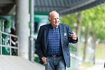 07.07.2020, Trainingsgelaende am wohninvest WESERSTADION,, Bremen, GER, 1.FBL, Werder Bremen - der Tag nach Heidenheim, im Bild<br /> <br /> <br /> Jürgen Ludger (L.) Born (EX Vorsitzender des Vorstandes bzw. der Geschäftsführung SV Werder Bremen) auf dem Weg zu einer Besprechung bei Werder<br /> <br /> <br /> Foto © nordphoto / Kokenge