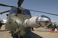 - helicopter  Agusta Westland EH 101, detail of the probe for the in-flight refueling....- elicottero Agusta Westland EH 101, particolare della sonda per il rifornimento in volo