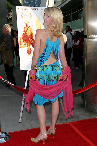 "JENNIFER SIEBEL.Los Angeles Film Festival Opening Night Movie ""Down in the Valley"" held at the ArcLight Cinerama Dome, Hollywood, CA, USA, 16 June 2005..full length blue satin dress pink pashmina wrap shawl back behind cut out looking over shoulder.Ref: ADM.www.capitalpictures.com.sales@capitalpictures.com.©Jacqui Wong/AdMedia/Capital Pictures."