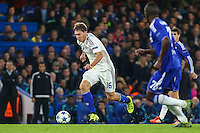 Serhiy Sydorchuk of Dynamo Kyiv (left) during the UEFA Champions League Group match between Chelsea and Dynamo Kyiv at Stamford Bridge, London, England on 4 November 2015. Photo by David Horn.