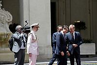 Roma, 20 Giugno 2018<br /> Incontro  a Palazzo Chigi tra il  Presidente del Consiglio, Giuseppe Conte e il Presidente del Consiglio europeo, Donald Tusk.