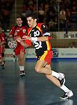 Handball Herren, Laenderspiel, UNIVERSA-CUP Hanns-Martin-Schleyerhalle Stuttgart (Germany) Nationalmannschaften, Deutschland - Tschechien Adrian Wagner (GER) am Ball